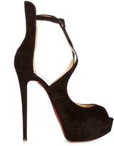 Christian Louboutin Marlenalta 150mm suede platform sandals