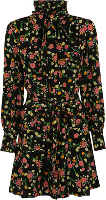 Marc Jacobs Floral Print Bow Detail Dress