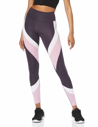 Amazon Brand - AURIQUE Women's Colour Block Sports Leggings