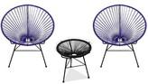 Bronx Fiedler 3 Piece Patio Chair Set Ivy Color: Purple