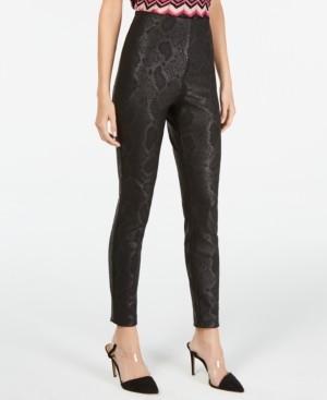 INC International Concepts Inc Petite Metallic Python-Embossed Skinny Pants, Created for Macy's