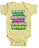 """Baby """"Grandma Will"""" Onesie - 6M"""