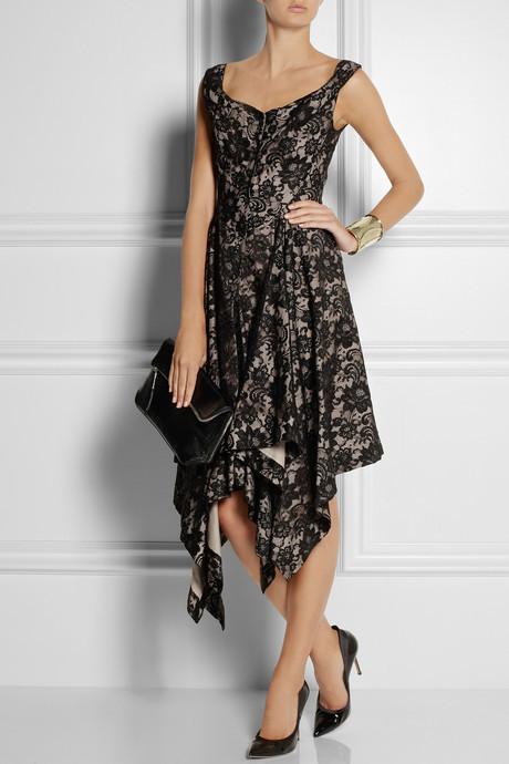 Vivienne Westwood Saturday asymmetric lace dress