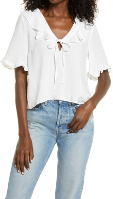 Topshop Maisie Frill Blouse