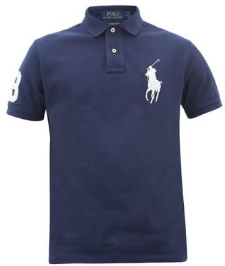 Polo Ralph Lauren Logo-embroidered Cotton Polo Shirt - Mens - Navy