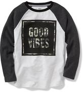Old Navy Thermal Raglan-Sleeve Graphic Tee for Boys
