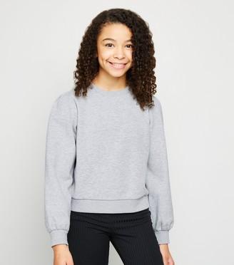 New Look Girls Puff Sleeve Sweatshirt