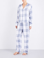 Rails Checked woven pyjama top