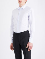 Corneliani Checked regular-fit cotton-jacquard shirt