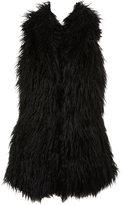 Black Faux Fur Gilet