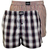 Jockey Men's 2-Pack Plaid & Check Print Woven Boxer Shorts