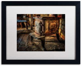 "Lois Bryan 'Liberty Wood Stove' Matted Framed Art - 16"" x 20"""