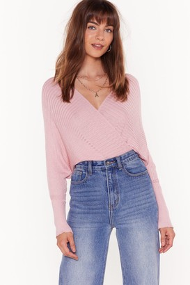 Nasty Gal Womens Knit Will Pay Off-the-Shoulder Ribbed Jumper - Pink - 4