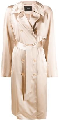 Joseph Silk Trench Coat