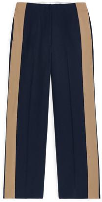 Arket Side Panel Wool Trousers