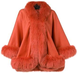 Liska oversized fur-trimmed coat
