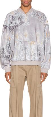 Fear Of God Henley Sweatshirt in Prairie Ghost Camo | FWRD