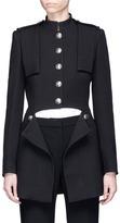 Alexander McQueen Split waist wool-silk coat