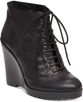 Jessica Simpson Kaelo Faux-Shearling Lace-Up Wedge Booties
