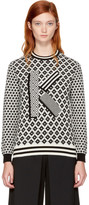 Kenzo Black & Ivory Fairisle 'K' Sweater