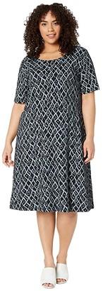 Fresh Produce Plus Size Amalfi Sadie Dress (Black) Women's Dress