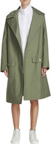 Bassike Stretch Cotton Trench Coat