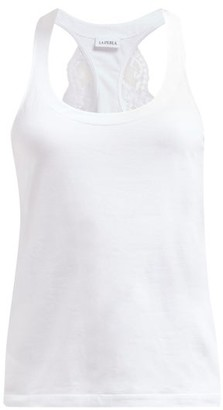 La Perla Souple Lace-trimmed Jersey Tank Top - White