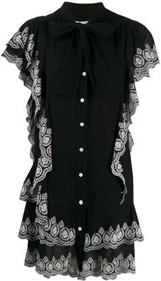 Derek Lam 10 Crosby Kalia cascade dress