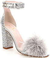 Kate Spade Ilona Glitter Pom-Pom Ankle-Strap Dress Sandals