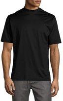 Peter Millar Mercerized Cotton T-Shirt, Black