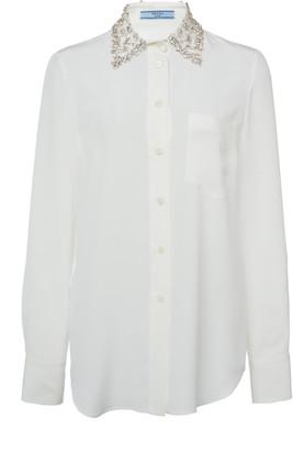 Prada Embellished Silk Shirt