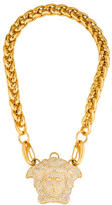 Versace Pavé Crystal Medusa Head Pendant Necklace