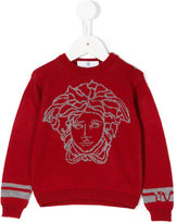 Young Versace intarsia-knit sweater