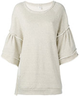 Y's flared sleeve sweatshirt - women - Cotton - 2