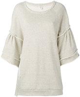 Y's flared sleeve sweatshirt