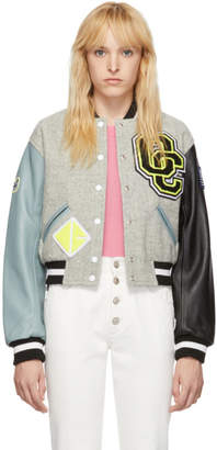 Opening Ceremony Grey Shrunken Varsity Jacket