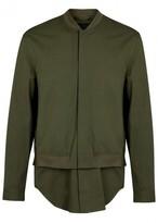 3.1 Phillip Lim Army Green Twill Bomber Jacket