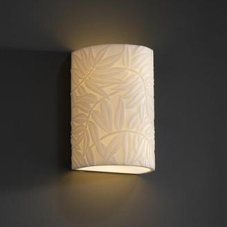 Bayou Breeze Kelsie 1 Light Wall Sconce Impression: Bamboo