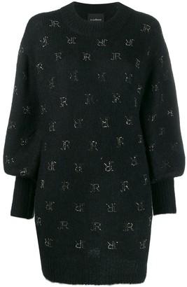John Richmond stud-logo oversized knitted jumper