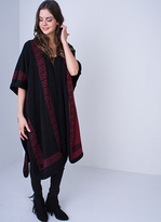 Missy Empire Merci Black And Wine Reversible Knitted Cape