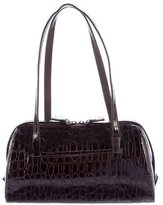 Stuart Weitzman Embossed Leather Shoulder Bag
