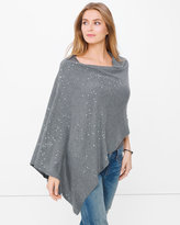 White House Black Market Novelty Sequin Poncho Sweater