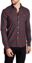 Farah Umber Plaid Long Sleeve Slim Fit Shirt