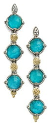 Konstantino 'Iliada' Triple Drop Earrings