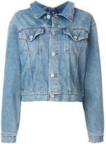 Unravel Project back buttoned denim jacket