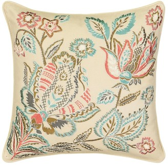 Waverly Brompton Embroidered 16x16 Decorative Accessory Pillow