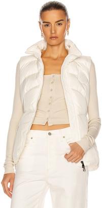 Moncler Ana Gilet Vest in White | FWRD