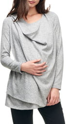 Maternal America Maternity/Nursing Wrap Top