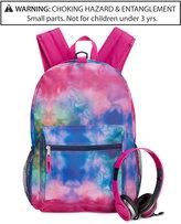 Fab Watercolor-Print Backpack & Headphones, Little Girls (2-6x) & Big Girls (7-16)