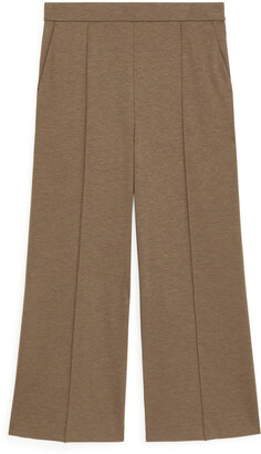 Arket Cropped Milano Rib Trousers